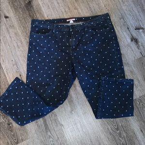 Tommy Hilfiger Polka Dot Crop Jeans Size 16